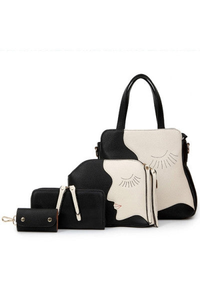 Elegant Artistic 4pc Handbag Set - IBL Fashion - 10