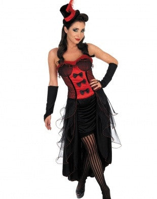 Red Burlesque Babe Costume - IBL Fashion