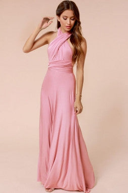 Sexy Reversible Cocktail Halter Maxi Dress - IBL Fashion - 1