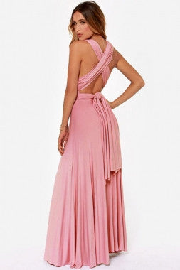 Sexy Reversible Cocktail Halter Maxi Dress - IBL Fashion - 3