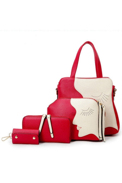 Elegant Artistic 4pc Handbag Set - IBL Fashion - 1