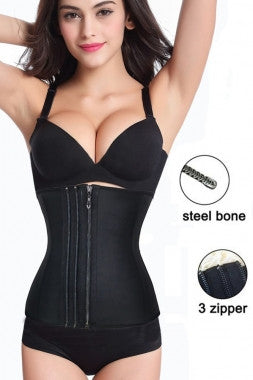 Zip and Clip Latex Waist Trainer - IBL Fashion - 3