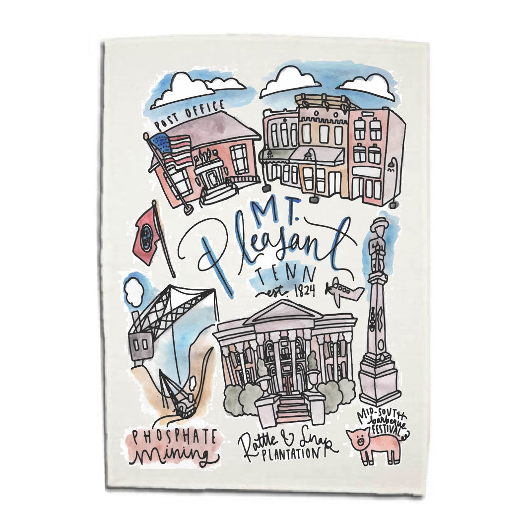 Mt. Pleasant Dishtowel