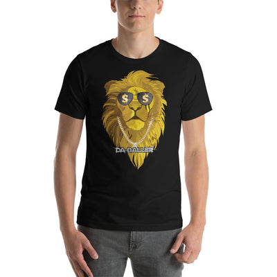 Bling Bling Gold Necklace Diamond SunGlasses Lion - Short-Sleeve Unisex T-Shirt
