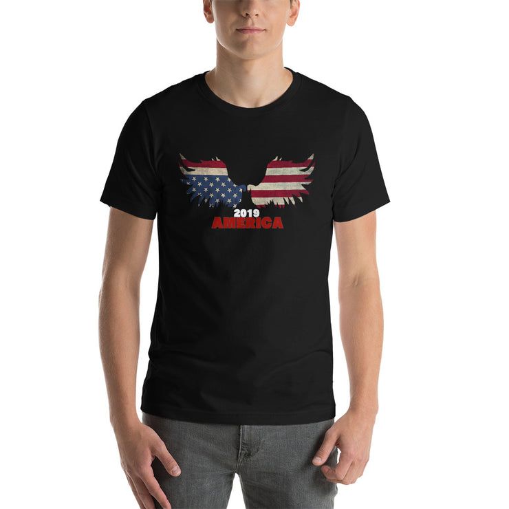 AMERICA WINGS JULY 4TH 2019 - Short-Sleeve Unisex T-Shirt