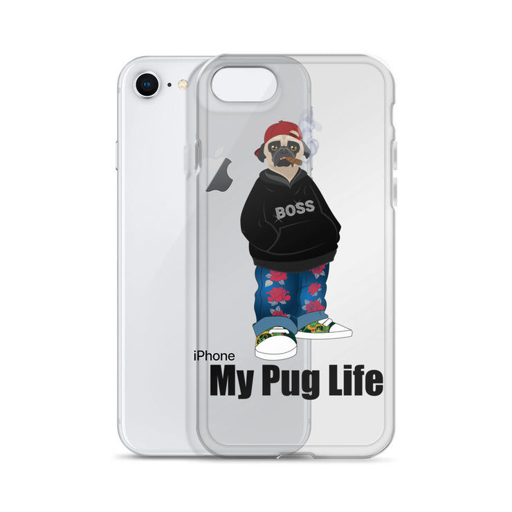 My Pug Life - Pug Boss - iPhone Case - Clear