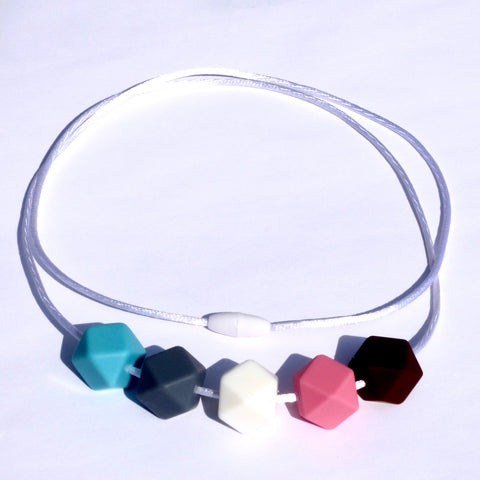 mommy necklace silicone polygons