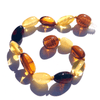 Baltic Amber Multicolored Bean
