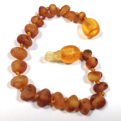 Baltic Amber Cinnamon - 5.5 Bracelet / Anklet - Pop Clasp - Baltic Amber Jewelry