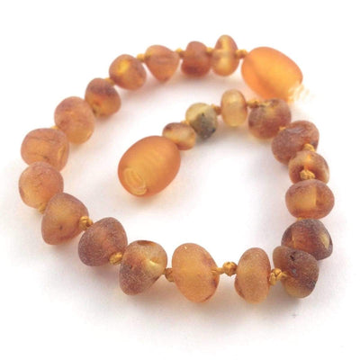 Baltic Amber Cinnamon - 5.5 Bracelet / Anklet - Twist Clasp - Baltic Amber Jewelry
