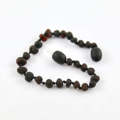 Baltic Amber Coffee - 5.5 Bracelet / Anklet - Twist Clasp - Baltic Amber Jewelry