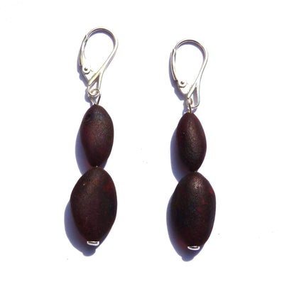 Baltic Amber Coffee - Pair Of Earrings - Baltic Amber Jewelry