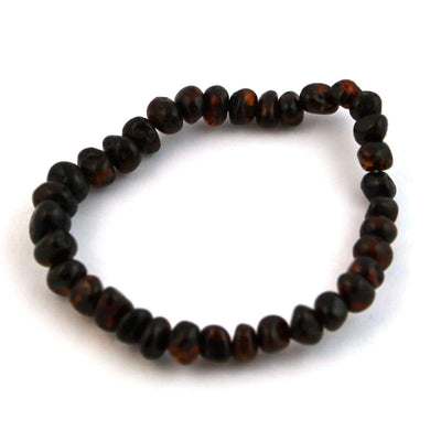 Baltic Amber Dark Cherry - 7 Bracelet - Baltic Amber Jewelry