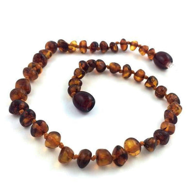 Baltic Amber Dark Cognac - 9.5 Anklet - Baltic Amber Jewelry