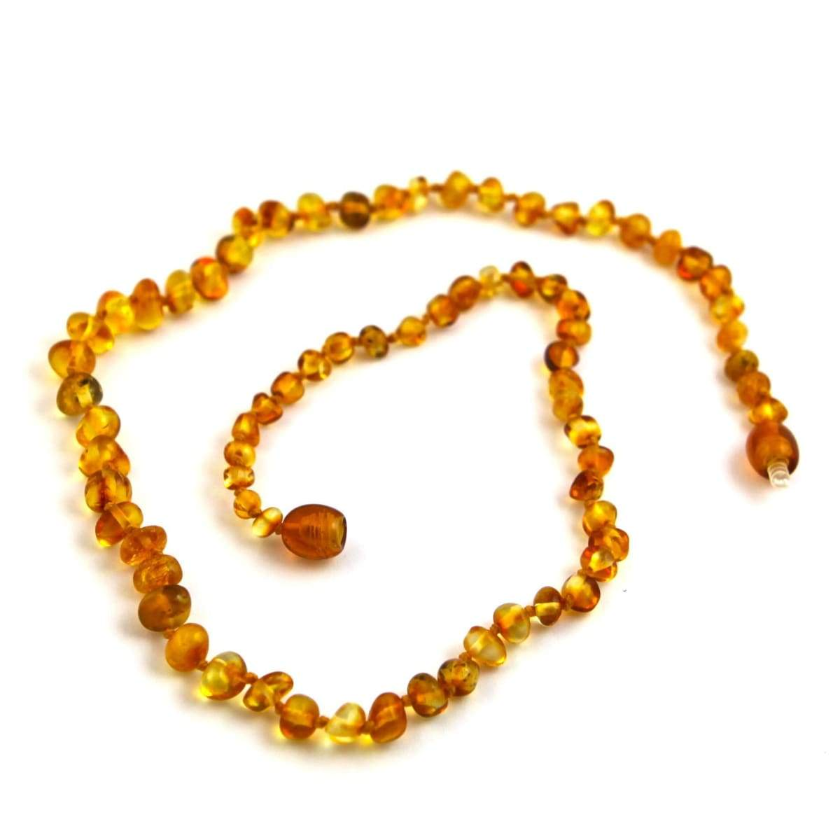 Baltic Amber Honey For Teens & Adults - 16 Necklace - Baltic Amber Jewelry