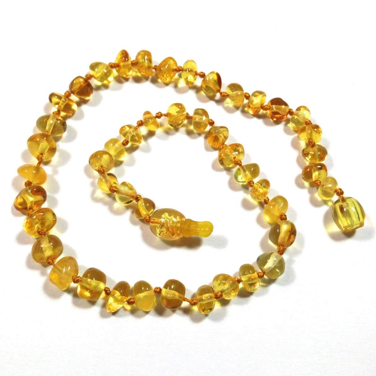 Baltic Amber Lemon - 12 Necklace - Pop Clasp - Baltic Amber Jewelry