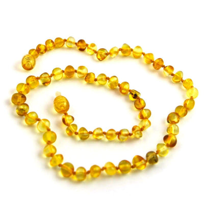 Baltic Amber Lemon - 12 Necklace - Twist Clasp - Baltic Amber Jewelry
