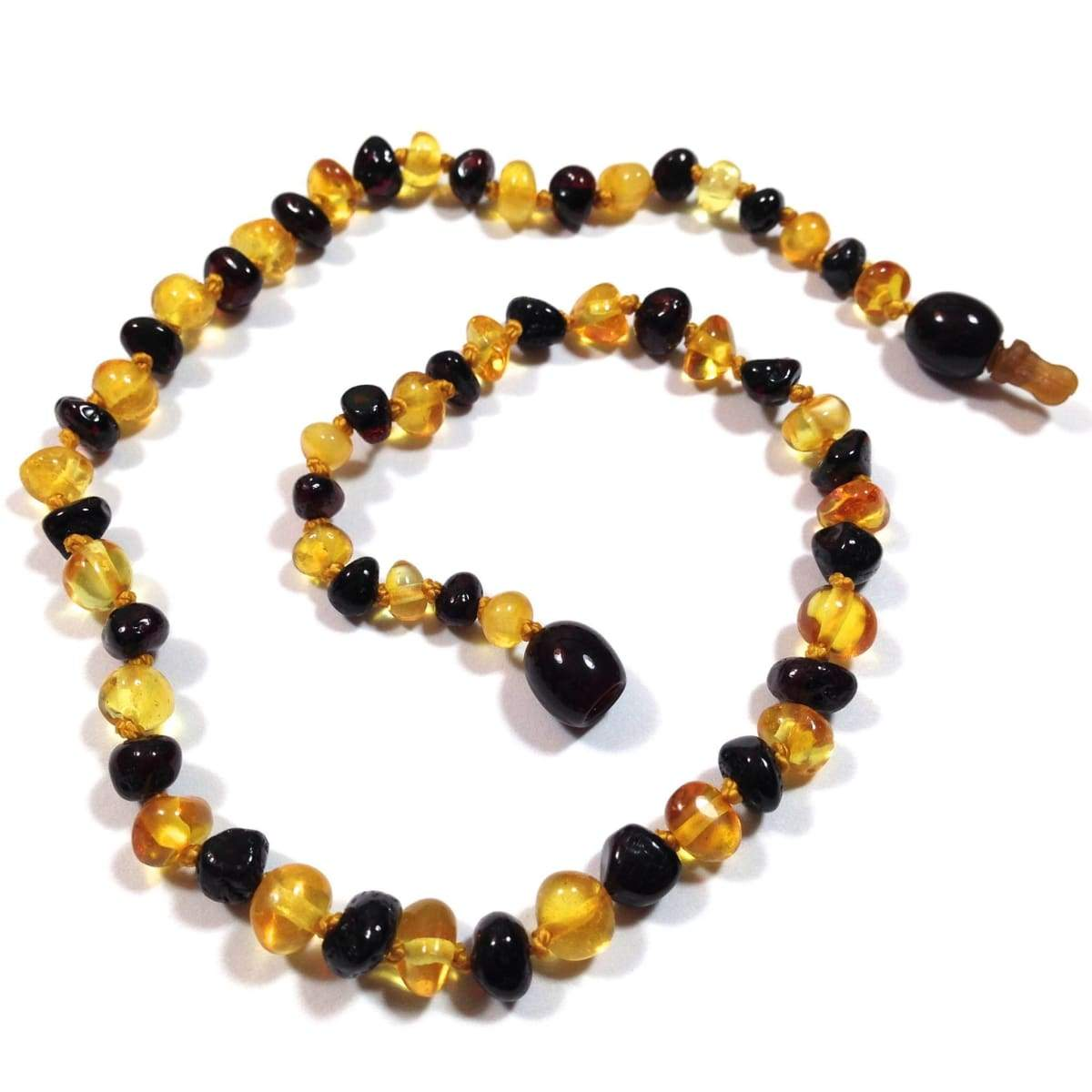 Baltic Amber Lemon & Cherry - 12 Necklace - Pop Clasp - Baltic Amber Jewelry