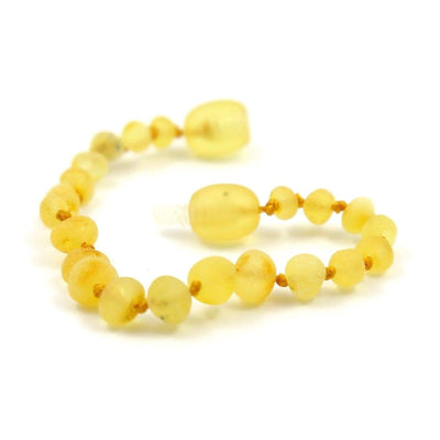 Baltic Amber Lemondrop - 5.5 Bracelet / Anklet - Twist Clasp - Baltic Amber Jewelry