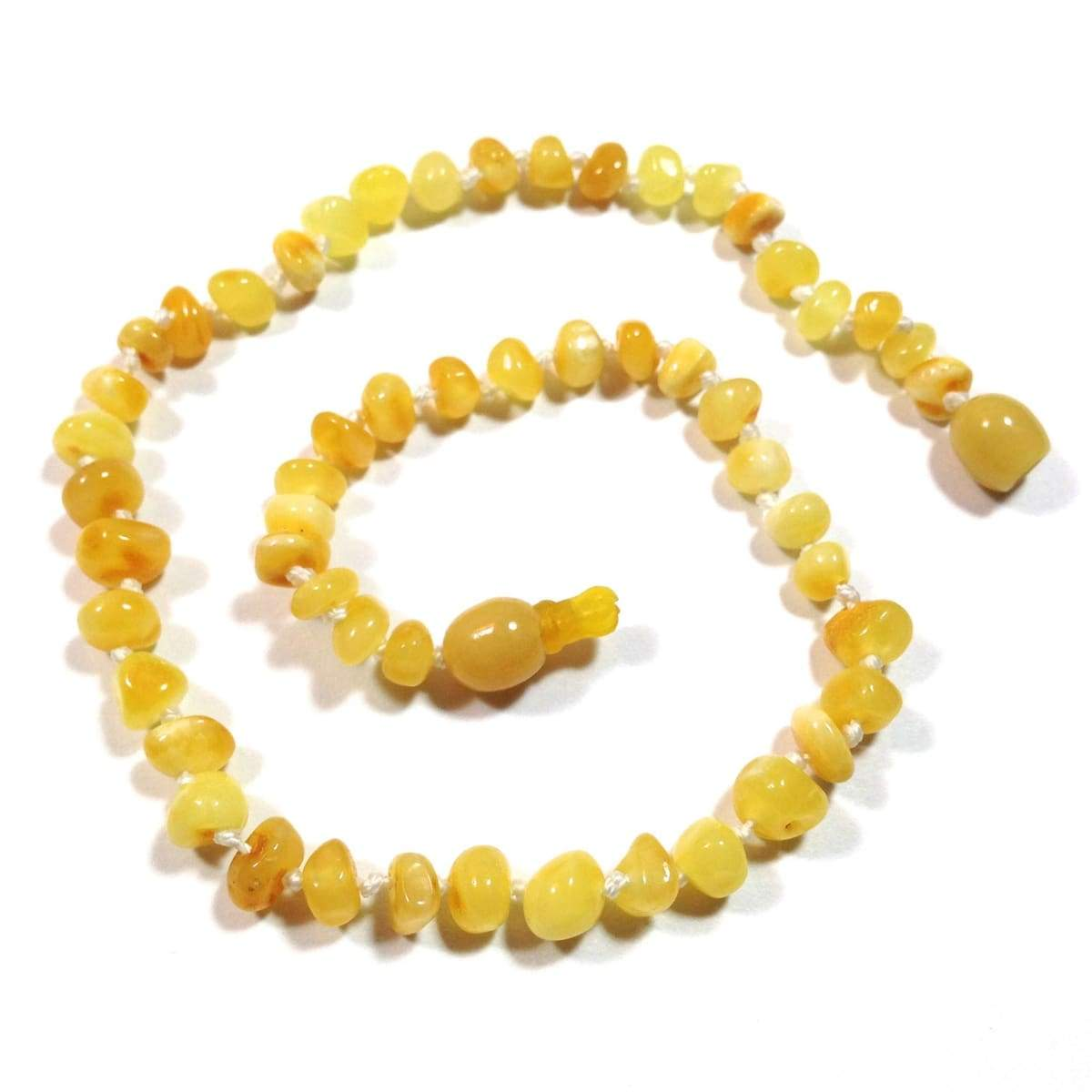 Baltic Amber Milk & Butter - 12 Necklace - Pop Clasp - Baltic Amber Jewelry