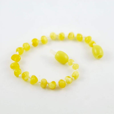 Baltic Amber Milk & Butter - 5.5 Bracelet / Anklet - Twist Clasp - Baltic Amber Jewelry