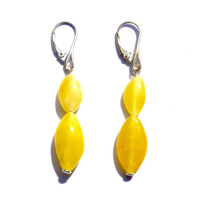 Baltic Amber Milk & Butter - Pair Of Earrings - Baltic Amber Jewelry