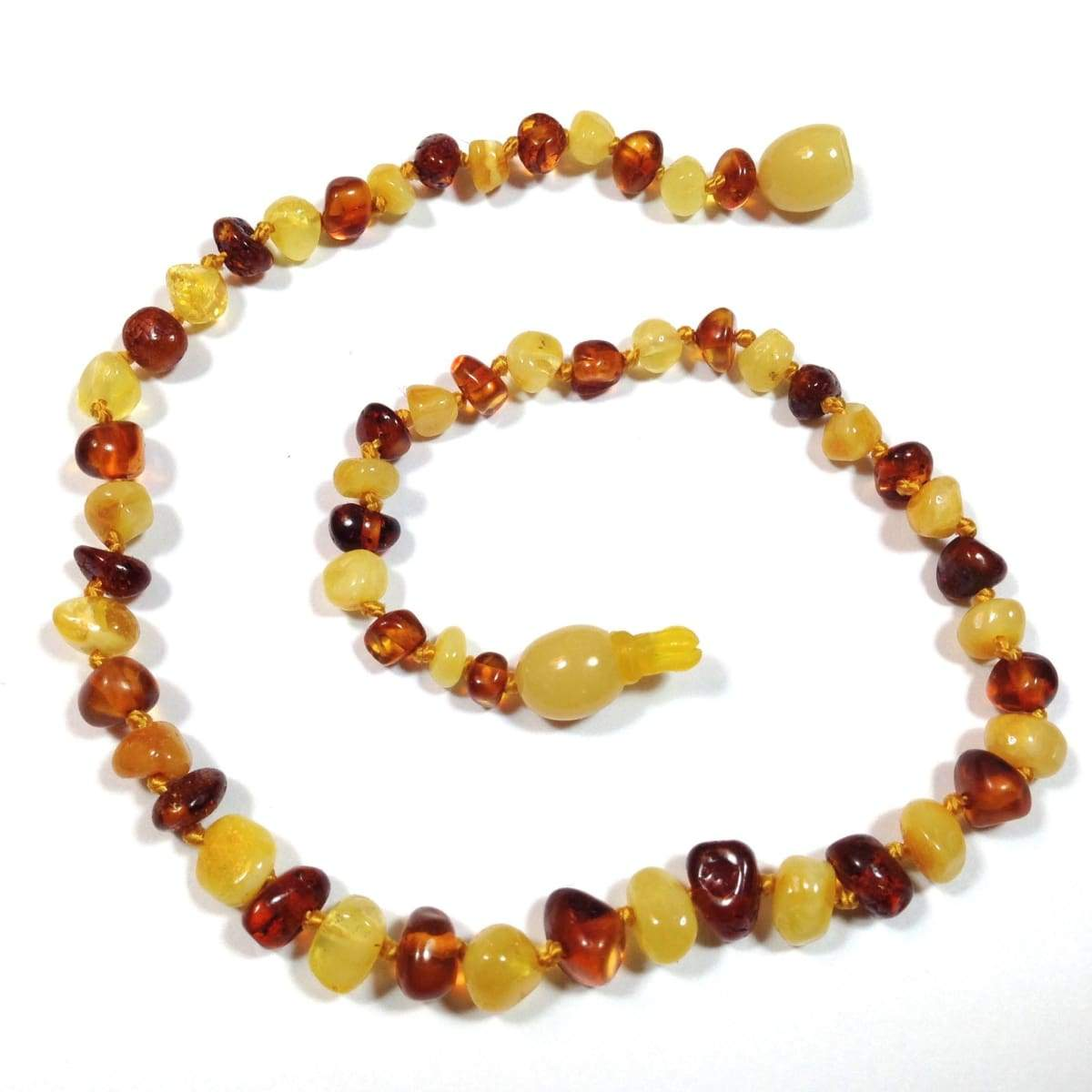 Baltic Amber Milk & Cognac - 12 Necklace - Pop Clasp - Baltic Amber Jewelry