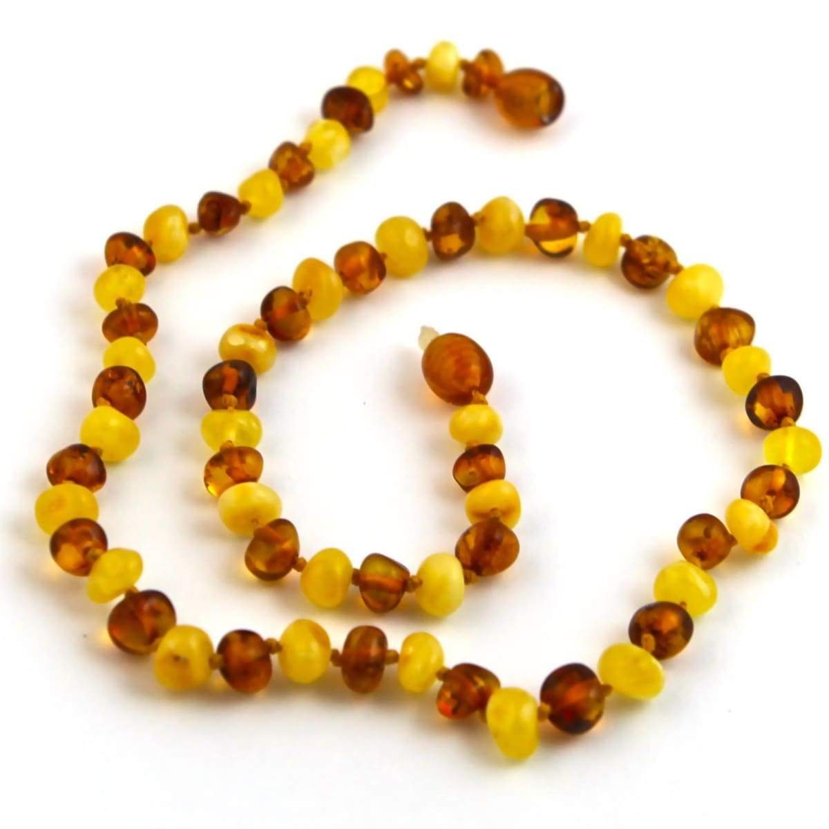 Baltic Amber Milk & Cognac - 16 Necklace - Baltic Amber Jewelry