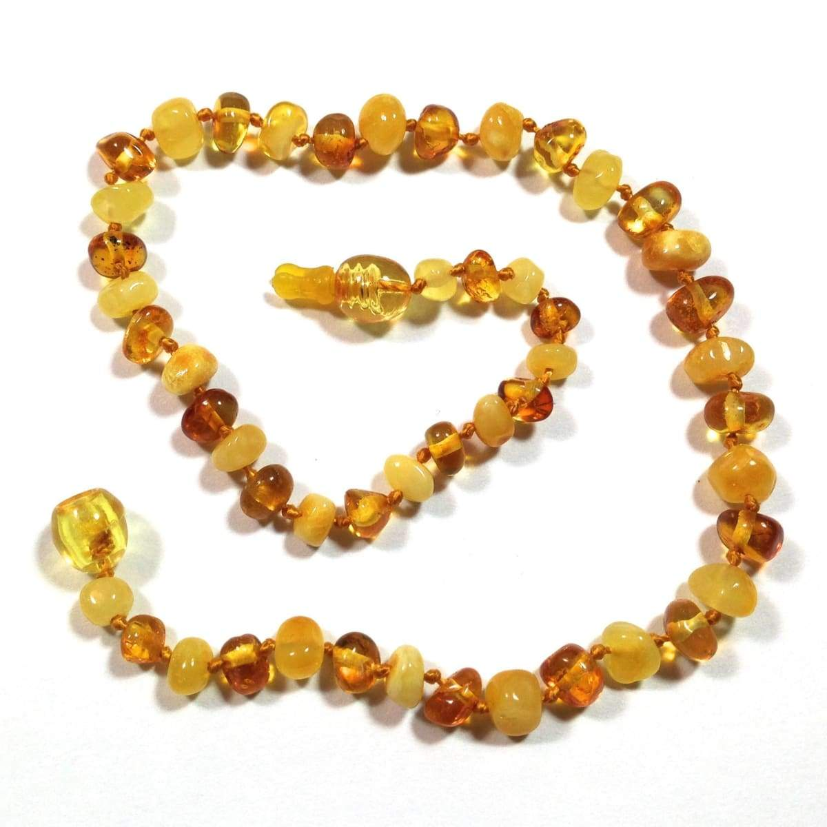 Baltic Amber Milk & Honey - 12 Necklace - Pop Clasp - Baltic Amber Jewelry