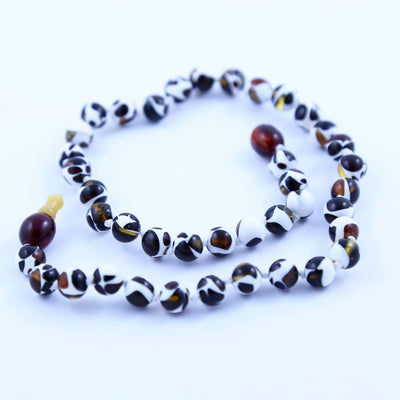 Baltic Amber Mosaic - 14 Necklace - Pop Clasp - Baltic Amber Jewelry