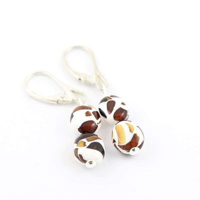 Baltic Amber Mosaic - Pair Of Earrings - Baltic Amber Jewelry