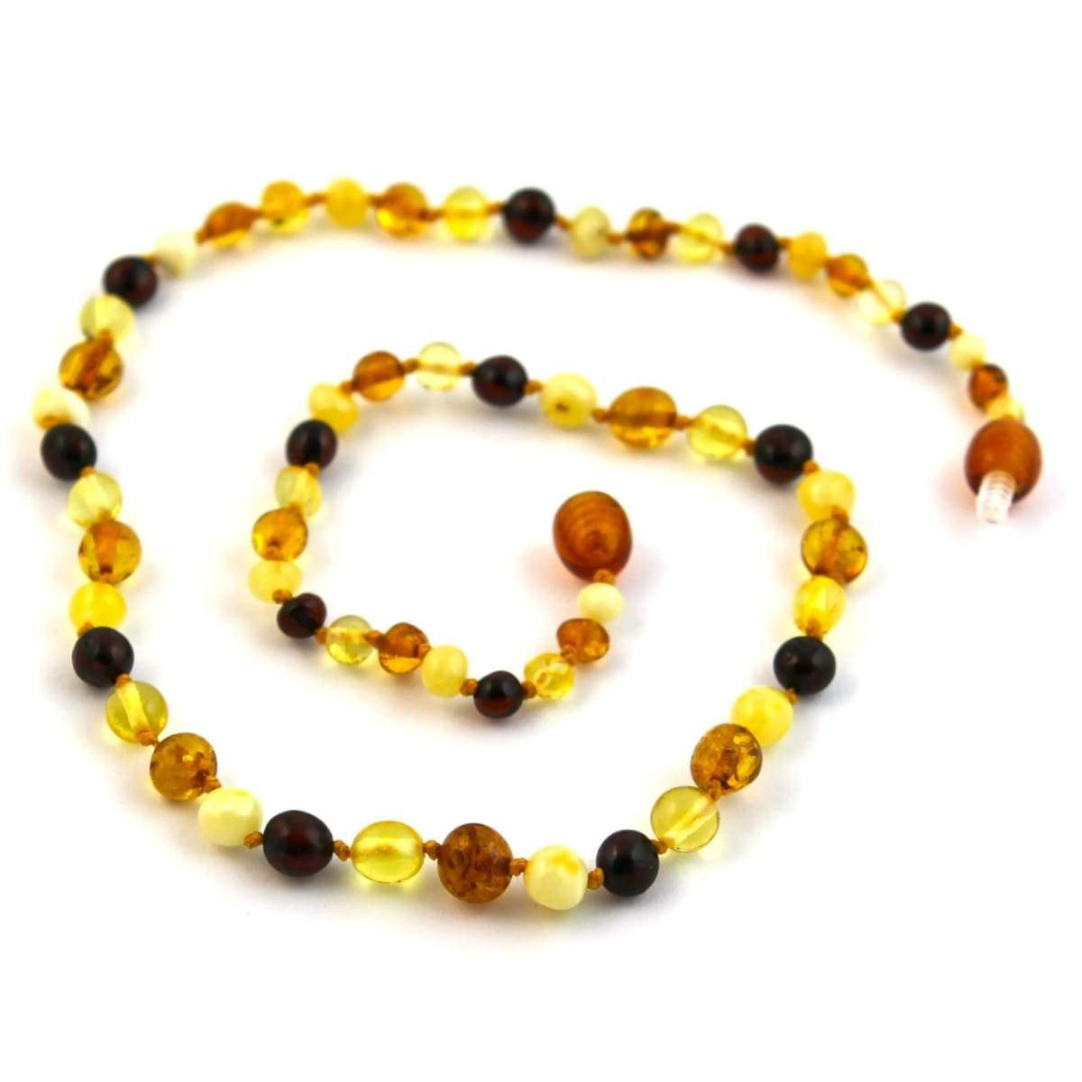 Baltic Amber Multicolored Round - 16 Necklace - Baltic Amber Jewelry
