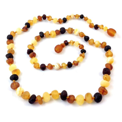 Baltic Amber Multicolored Semi-Polish - 16 Necklace - Baltic Amber Jewelry