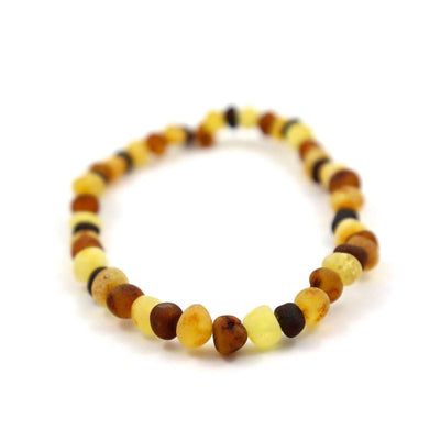 Baltic Amber Multicolored Semi-Polish - 7 Bracelet - Baltic Amber Jewelry
