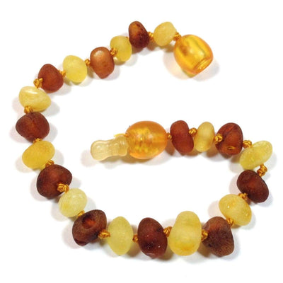 Baltic Amber Nutmeg & Lemondrop - 5.5 Bracelet / Anklet - Pop Clasp - Baltic Amber Jewelry