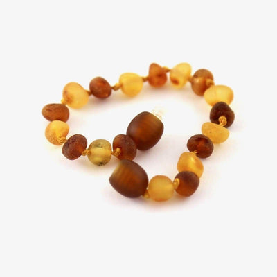 Baltic Amber Nutmeg & Lemondrop - 5.5 Bracelet / Anklet - Twist Clasp - Baltic Amber Jewelry