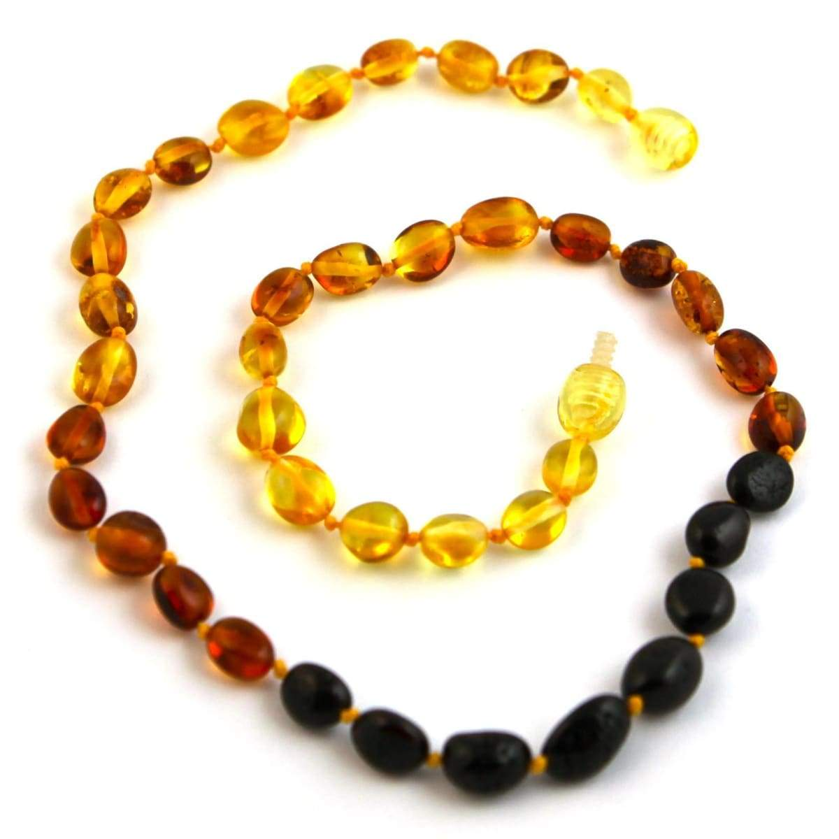 Baltic Amber Rainbow Bean - 16 Necklace - Baltic Amber Jewelry
