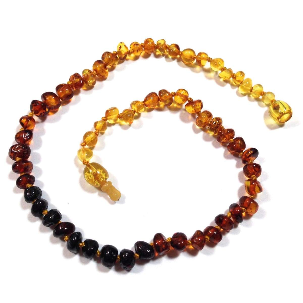 Baltic Amber Rainbow Round - 12 Necklace - Pop Clasp - Baltic Amber Jewelry