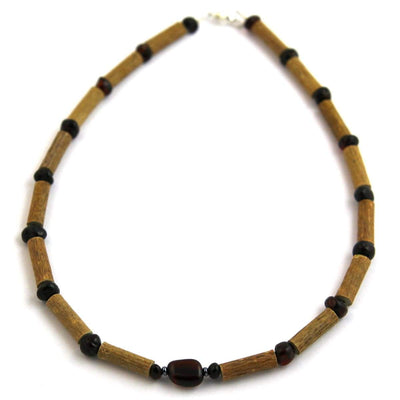 Hazel-Amber Dark Amber - 11 Necklace - Lobster Claw Clasp - Hazelwood & Baltic Amber Jewelry