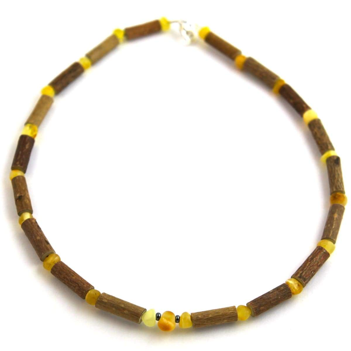 Hazel-Amber Milk & Butter - 11 Necklace - Lobster Claw Clasp - Hazelwood & Baltic Amber Jewelry