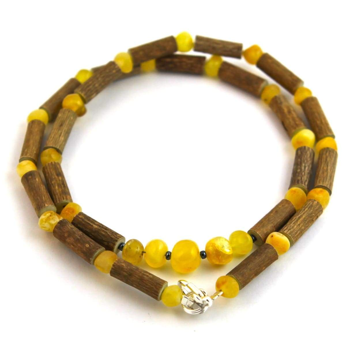 Hazel-Amber Milk & Butter - 16 Necklace - Lobster Claw Clasp - Hazelwood & Baltic Amber Jewelry