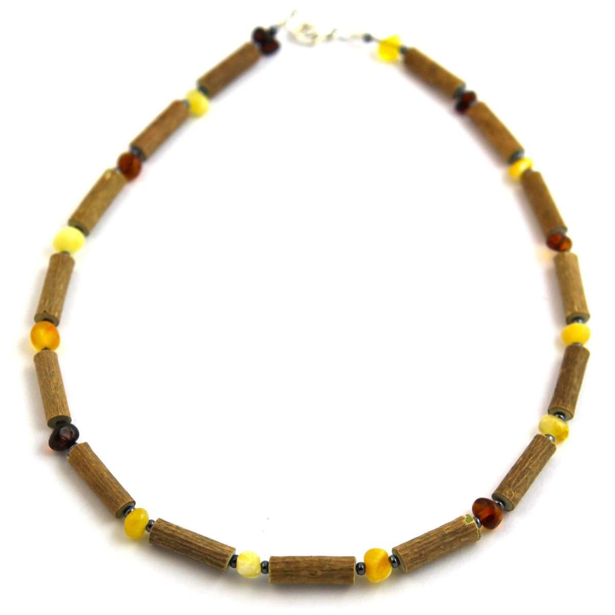 Hazel-Amber Multicolored - 11 Necklace - Lobster Claw Clasp - Hazelwood & Baltic Amber Jewelry