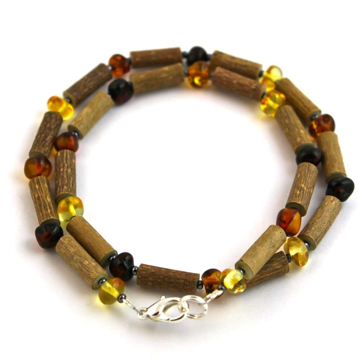 Hazel-Amber Multicolored - 16 Necklace - Lobster Claw Clasp - Hazelwood & Baltic Amber Jewelry