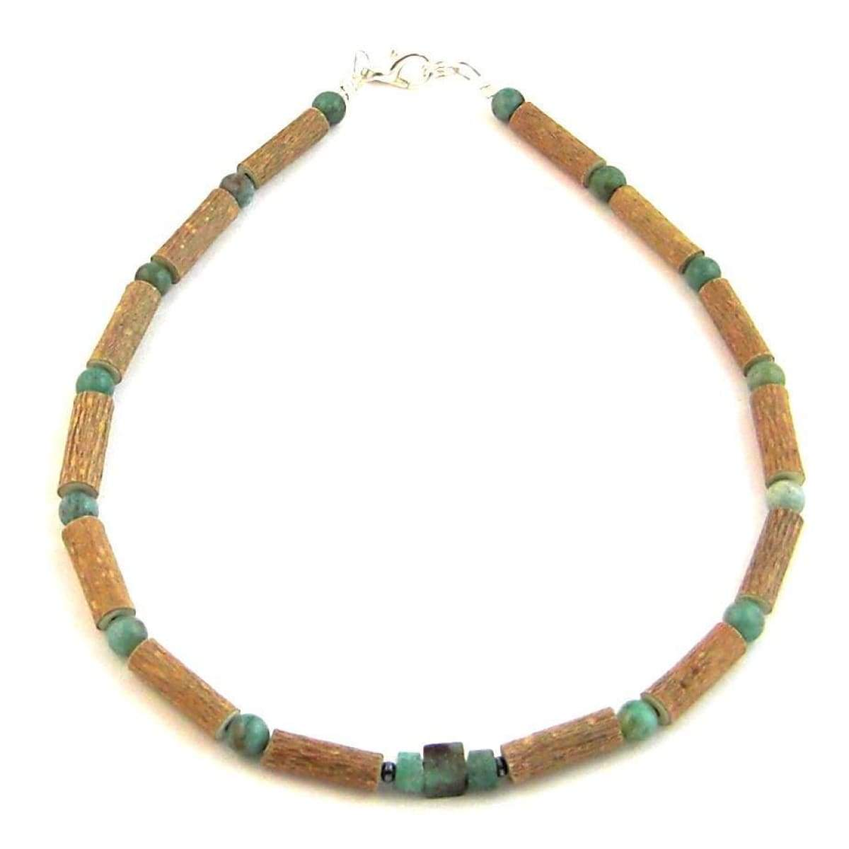 Hazel-Gemstone African Jade - 11 Necklace - Lobster Claw Clasp - Hazelwood & Gemstone Jewelry