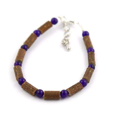 Hazel-Gemstone Amethyst - 6-7 Adjustable Anklet - Lobster Claw Clasp - Hazelwood & Gemstone Jewelry