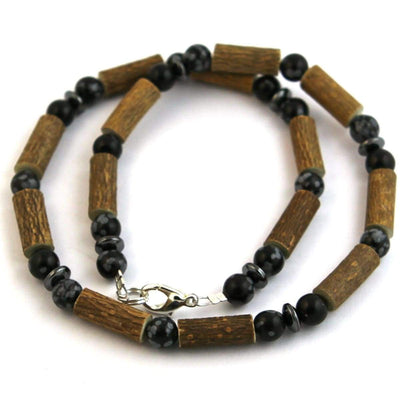 Hazel-Gemstone Black Obsidian - 16 Necklace - Lobster Claw Clasp - Hazelwood & Gemstone Jewelry