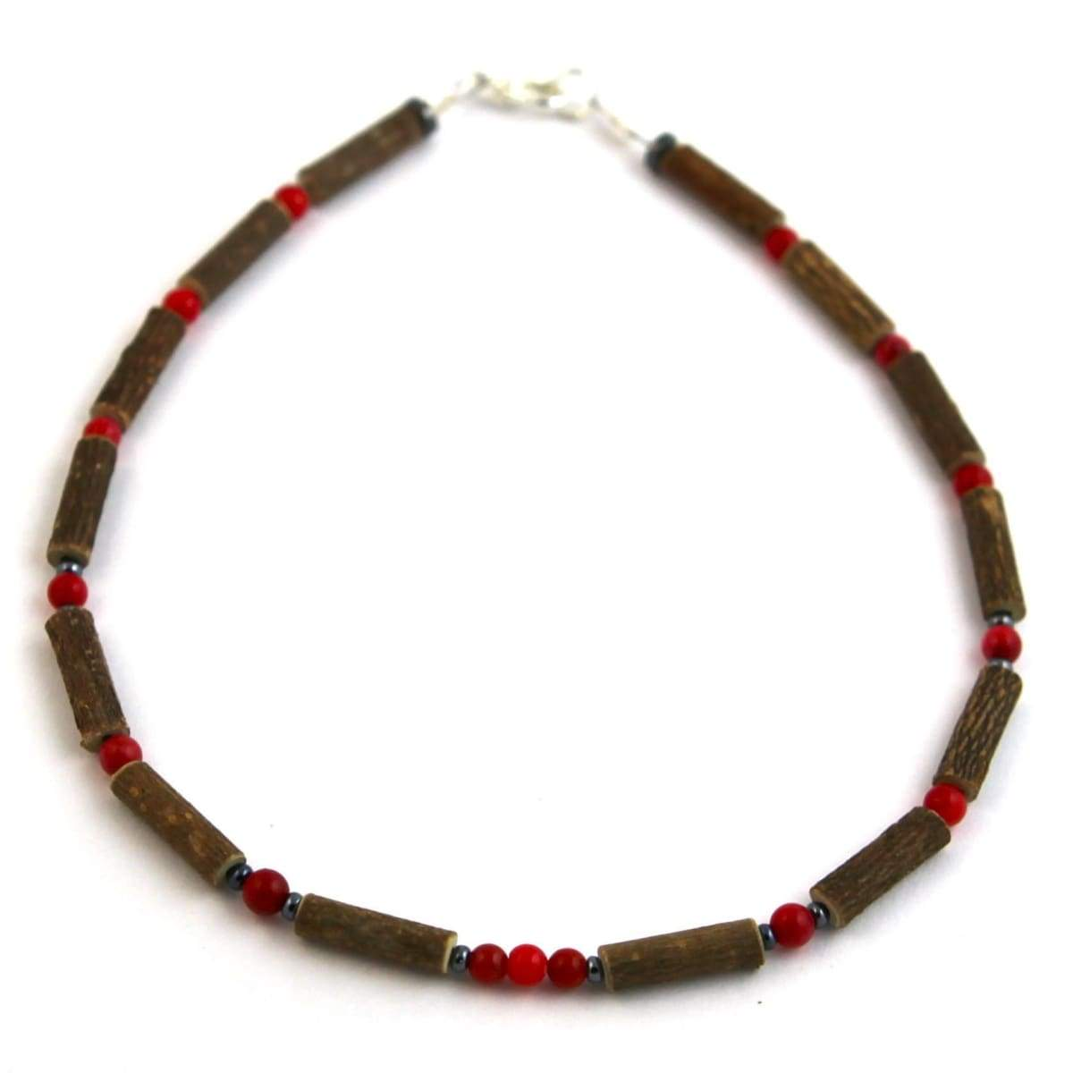 Hazel-Gemstone Coral - 11 Necklace - Lobster Claw Clasp - Hazelwood & Gemstone Jewelry