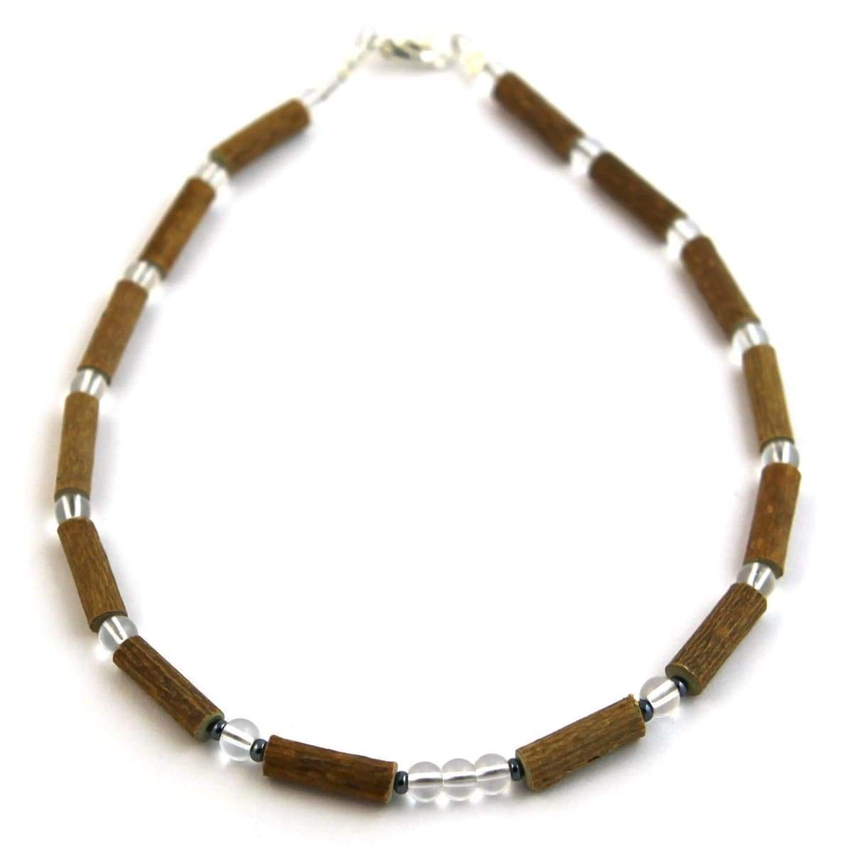 Hazel-Gemstone Crystal - 11 Necklace - Lobster Claw Clasp - Hazelwood & Gemstone Jewelry