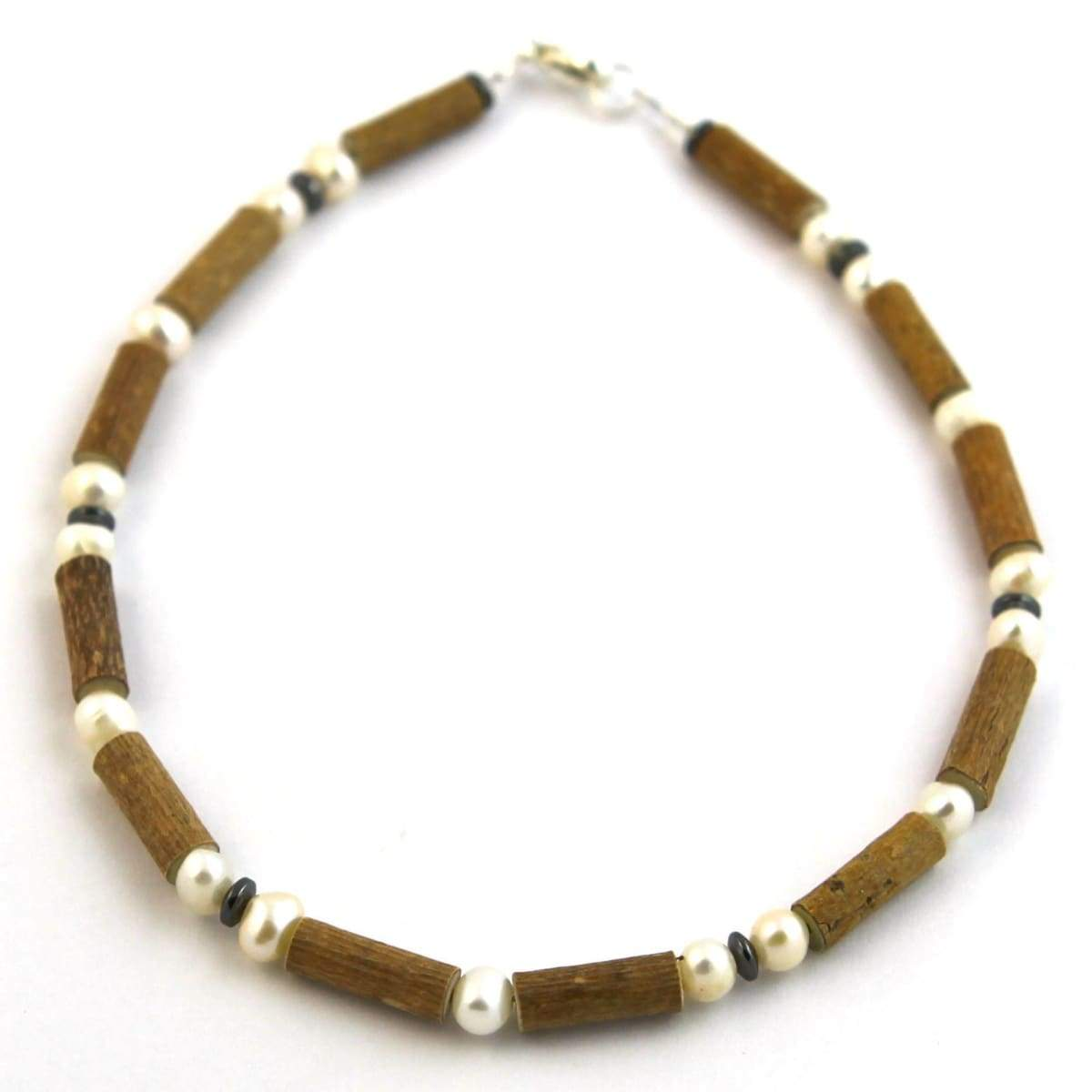 Hazel-Gemstone Freshwater Pearl - 11 Necklace - Lobster Claw Clasp - Hazelwood & Gemstone Jewelry