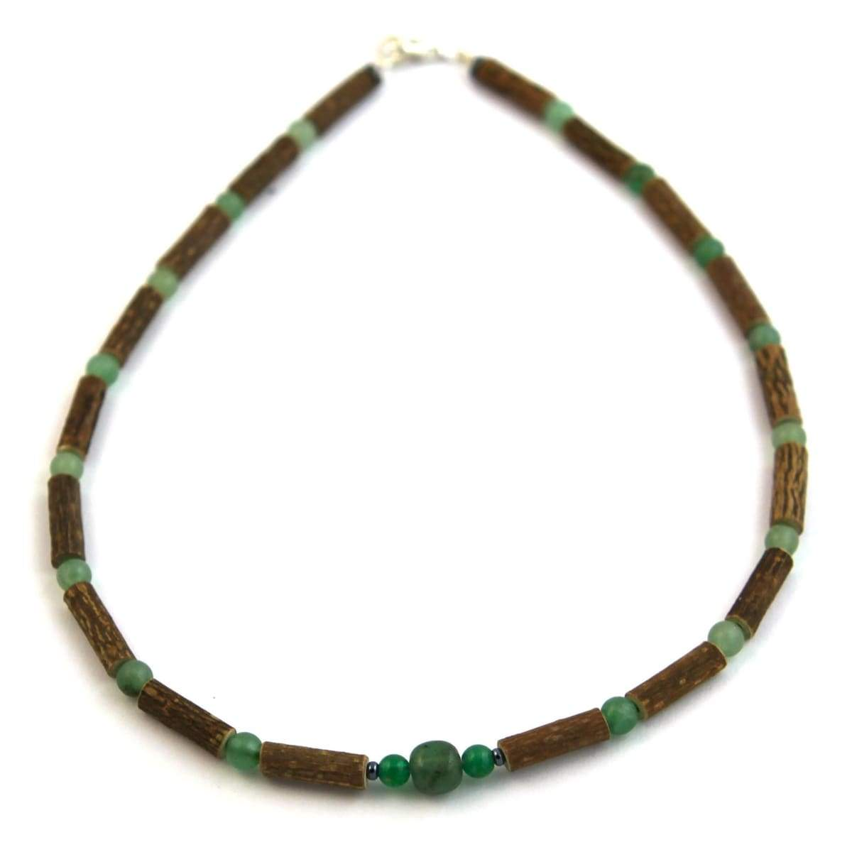 Hazel-Gemstone Green Aventurine - 11 Necklace - Lobster Claw Clasp - Hazelwood & Gemstone Jewelry